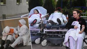 İzmirde tavuk fabrikasında büyük panik Hastaneye kaldırıldılar