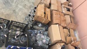 İzmirde kaçak içki operasyonu