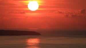 Türkiyenin en kuzeyinde eşsiz gün batımı