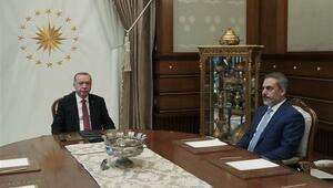 Cumhurbaşkanı Recep Tayyip Erdoğan, MİT Başkanı Hakan Fidanı kabul etti