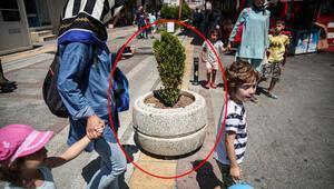 İstanbul'da tepki çeken görüntüler Beton saksı bile koymuşlar…