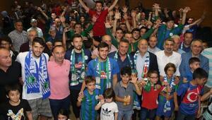 Çaykur Rizespor yeni transferleri tanıttı