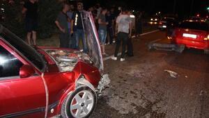 Manisada otomobiller çarpıştı: 1 yaralı