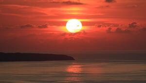 Türkiyenin en kuzeyi Sinopta eşsiz gün batımı