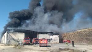 Kulada katı atık bertaraf tesisindeki yangın ormana sıçradı