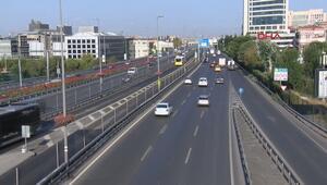 İstanbulda yollar boş kaldı