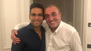 Ve beklenen fotoğraf Abdurrahim Albayrak ve Falcao...