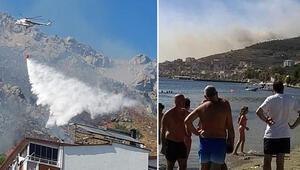 Burgazada ve Marmara Adasında orman yangını
