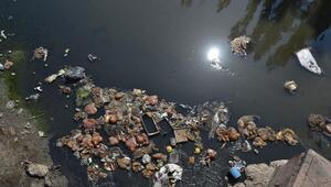 Kurban atıklarını Ankara Çayı'na attılar