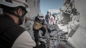 İdlibe yoğun hava saldırıları: 10 kişi hayatını kaybetti