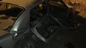 Edirnede otomobiller çarpıştı: 1 ölü, 6 yaralı