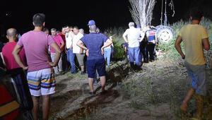 Dere yatağına devrilen traktörün sürücüsü öldü