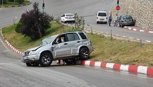 Karabükte aynı yerde 2 kaza: 1 yaralı