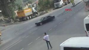 Sultangazide trafik magandası kamerada