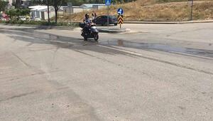 Motosikletlilerden vahşi sulama yerine damlama çağrısı