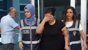 Suç makinesi kadın mangal başında yakalandı