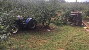 Fındık işçilerini taşıyan traktörün römorku devrildi: 1 ölü, 13 yaralı