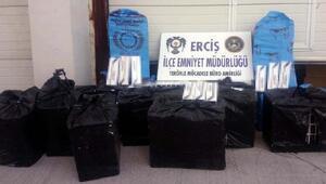 Ercişte 7900 paket kaçak sigara ele geçirildi