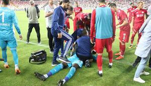Sivasspor - Beşiktaş maçında korku dolu anlar Baygınlık geçirdi...