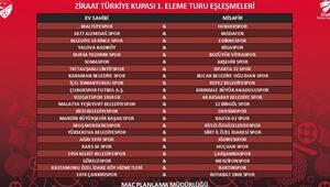 Türkiye Kupası Birinci Eleme Turu eşleşmeleri belli oldu