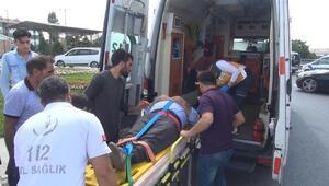 Arnavutköyde iki araç çarpıştı: 2 yaralı