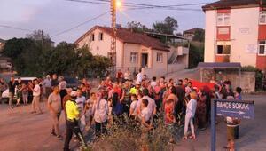 Mahalleli, TIRların geçişini engellemek için eylem yaptı