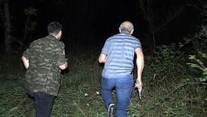 Gasp şüphelisi 1i kadın 2 şüpheli yaya olarak ormanlık alana kaçtı