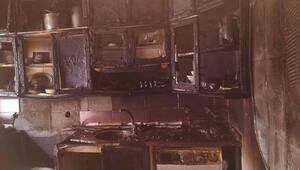 Gaziantepte ev yangını korkuttu