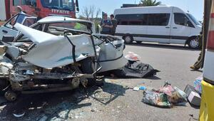 Yolcu otobüsüne çarptı Feci kaza…