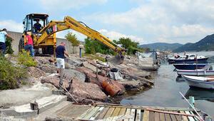 Alaplıda balıkçılar şüpheli varil bulundu