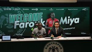 Konyaspor, Farouk Miya ile 3 yıllık sözleşme imzaladı