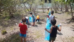 Tuncelide miniklerden çöp toplama etkinliği