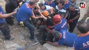 Mağaradan kurtarılan TV ekibinin içeride yaşadıkları kameraya yansıdı