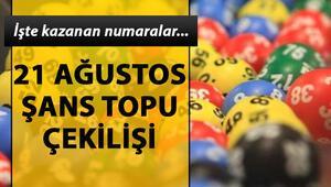 Şans Topuda büyük ikramiye sahibi buldu MPİ 21 Ağustos Şans Topu çekiliş sonuçları