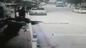 Üsküdarda hırsız-polis kovalamacası kamerada