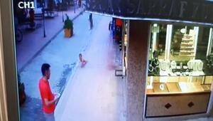 Suriyeli çocuğun üçüncü kattan düşüşü kamerada