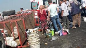 Traktörün römorku devrildi; 11 tarım işçisi yaralı