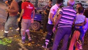 Siirtte işçileri taşıyan tarım aracı devrildi: 13 yaralı