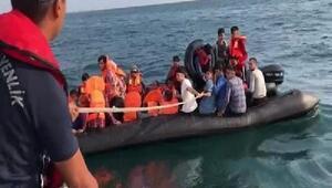 Meriç Nehrinde lastik bottaki 40 kaçak göçmen yakalandı