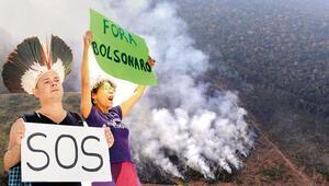 Amazon yangınına isyan