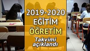 Okullar bu yıl ne zaman açılacak İşte 2019-2020 eğitim-öğretim iş takvimi