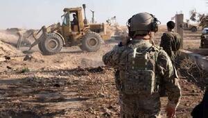 Suriyede teröristlerin kazdığı hendekler, ABD askeri gözetiminde kapatılıyor