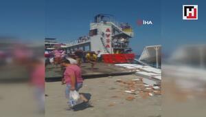 Feribot iskeleye çarptı: 4ü çocuk 7 yaralı