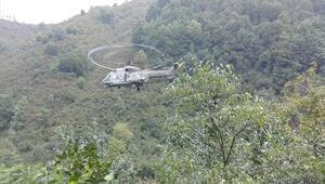 Milli Savunma Bakanlığı açıkladı: Termede selde mahsur kalan 17 kişi helikopterle tahliye edildi