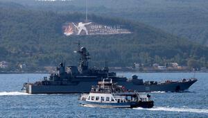 Rus savaş gemisi Azov Çanakkale Boğazından geçti