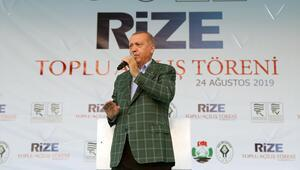 Cumhurbaşkanı Erdoğan: Rize-Artvin Havalimanının 1,5 yıl içerisinde hizmete alınacağız