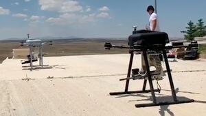 Türkiye'de bir ilk Makineli tüfekten sonra şimdi de bomba atar…
