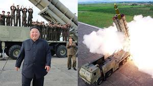 Kuzey Kore yeni süper büyük çoklu füze fırlatma sistemini denedi