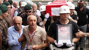 Şehit polis Akın Çelebi, Trabzonda toprağa verildi
