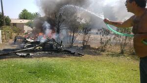 İspanyada uçak ve helikopter havada çarpıştı